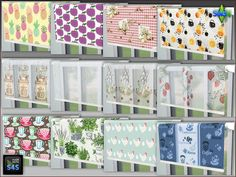 3 sets with 4 blinds by Mabra at Arte Della Vita via Sims 4 Updates
