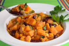 This Sweet Potato Chili hits all the right notes!!  Delicious and Satisfying :)