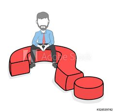 man is sitting on a question mark. - Buy this stock vector and explore similar vectors at Adobe Stock Making Decisions, Decision Making, Man Sitting, Question Mark, Mark Making, Color Palettes, Adobe, Vectors, Design Inspiration