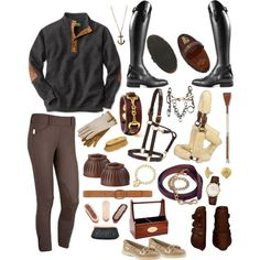 **Fall** - Polyvore- now that's my kind of polyvore post. GO RIDE! Equestrian fashion