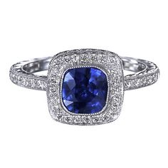 Color Stone Engagement Rings - Giraux Fine Jewelry