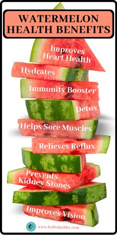 Watermelon Health Benefits, Healthy Facts, Lose Weight, Weight Loss, Sore Muscles, 3 Things, Superfoods, Medicine, Wellness