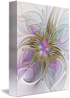 """""""Abstract Fractal Art"""" by Gabiw Art,  // Modern and abstract Fractal Art, pink, purple, lilac, violet, gold, golden. Beautiful and decorative. // Imagekind.com -- Buy stunning fine art prints, framed prints and canvas prints directly from independent working artists and photographers."""