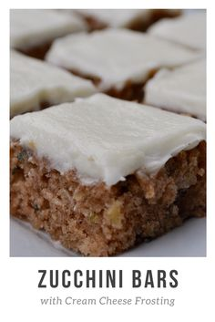 Homemade moist sheet cake with cream cheese frosting. These zucchini bars are the best I have ever had! So good!