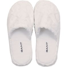 Gant Velour Star Slippers - Women One Size - White ($39) ❤ liked on Polyvore featuring shoes, slippers and pajamas