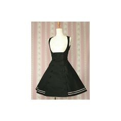 Sailor Doll JSK ($230) ❤ liked on Polyvore featuring dresses, lolita, victorian maiden and black