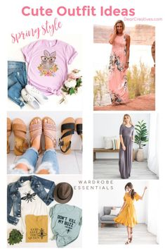 Cute outfit ideas for spring - We love spring style, Easter and updating our home and wardrobes. Spring fashions for women + a few kids favs. Cute Spring Outfits, Spring Dresses, Cute Outfits, Pretty Sandals, Cute Sandals, Everyday Outfits, Everyday Fashion, Easter T Shirts, Leather Suspenders