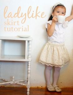 diy lace skirt for C