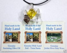 3-Holy-Land-charm-pendants-Holy-water-soil-anointing-oil-from-Jerusalem  Approximately ILS 69.26