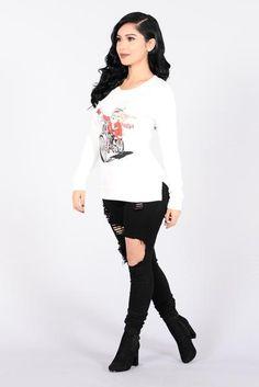 Holiday Joy Ride Sweater - Ivory