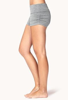 Side-Cinched Yoga Shorts