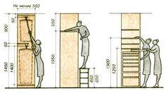 Organize space in wardrobe with ergonomics
