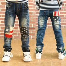 Alta calidad al por menor para niños pantalones primavera niños niñas niños del bebé jeans para niños pantalones de mezclilla ocasional 3-12Y ropa del niño(China (Mainland))