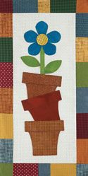 Wool in Spring Skinnie Wall Quilt (Kit for sale) - cute wall hanging