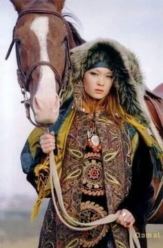 Kyrgyz woman in traditional dress