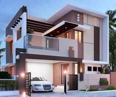 stunning modern home design exterior in 2020 39 Bungalow House Design, House Front Design, Tiny House Design, Cool House Designs, Bungalow Homes, Architect Design House, Kerala House Design, Modern Tiny House, Modern House Plans