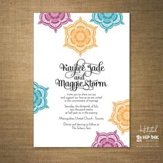Moroccan Party Invitation Persian Tile Shower by ImbueYouIDo 275