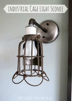 East Coast Creative: Industrial Cage Light Sconces from Lucent Lampworks