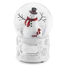 Personalized Make-A-Wish® Winter Wonderland Snow Globe , Add Your Message
