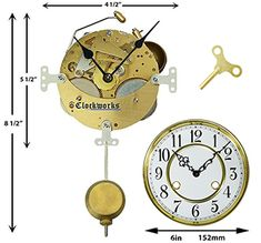 Mechanical Clock Kits - Build a Grandfather Clock with Ease : Clockworks The Tock, Mechanical Wall Clock, Wall Clock Kits, Clock Repair, Pendulum Clock, Clock Movements, Mantle Clock, Grandfather Clock