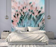 Eco-Friendly Canvas Wallpaper Light as a feather - deco Dream Bedroom, Master Bedroom, Bedroom Decor, Sofa, Cat Treats, Reno, Interior Inspiration, Sweet Home, New Homes