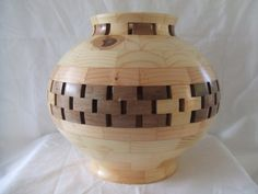 """Decorative Vase - This is a lovely piece to add to any decor. It would make a wonderful centerpiece to any table. It is 9"""" high and 9"""" at the widest diameter.  $50.00"""
