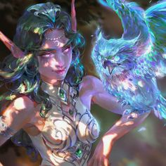 World Of Warcraft 3, Warcraft Art, Character Inspiration, Character Art, Character Design, Fantasy Races, Fantasy Art, Overwatch, Elf Druid