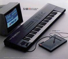 Good old ROLAND S-50 Digital Sampling Keyboard with 756 KB RAM (1986)