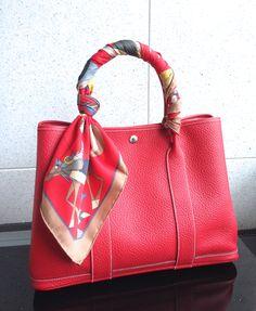 201b343e8d9 Hermes Garden Party 36 紅色 (Rogue Casque) New Handbags, Hermes Handbags,  Purses