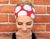 Workout headband- fitness headband- crossfit headband- yoga headband••• Retro Red