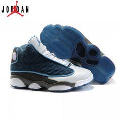 competitive price ada39 b8318 414574-401 Air Jordan 13 Women flint French Blue University Blue Flint Grey  A24025,