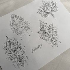 Dessins Tatouage Mandala Femme Fleur De Lotus Et Rose Idee