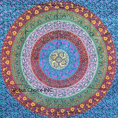 Hippie Tapestry, Hippy Mandala Bohemian Tapestries, Indian Dorm Decor, Psychedelic Tapestry Wall Hanging Ethnic Decorative (Multi Color) Rajasthali http://smile.amazon.com/dp/B00VQXUVSQ/ref=cm_sw_r_pi_dp_0JBKwb1SY6FSA