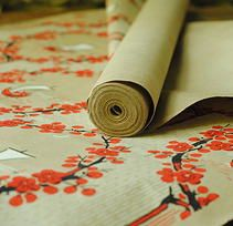 vintage wallpaper from French Country Brocante