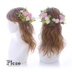 Gallery 660   .  【 結婚式 #髪飾り 】  .  #Picco #オーダーメイド髪飾り #ウェディングドレス #結婚式  .  ベビーピンク&パールホワイトのプリザローズをメインに、ブーケの配色に合わせてナチュラルな雰囲気に仕上げました ✨  .  サイドからバックにかけてぐるりと盛ったハーフクラウンスタイルです #ローズ  #プリザーブドフラワー  #ナチュラル  #ハーフクラウン  #ウェディングヘア  .  デザイナー @mkmk1109  .  .  .  #ボタニカル #ヘッドアクセ #ヘッドドレス #花飾り #造花  #ドレスヘア #披露宴 #パーティー #プレ花嫁 #花嫁  #ウェディングフォト #flowercrown #結婚式髪型 #ドレス #プレ花嫁  #weddinghair #rose #pink #natural    #marry #marryxoxo