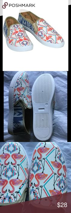 SALE!! Reduced shipping??FLAMINGO SLIP-ON SNEAKERS FLAMINGO SLIP-ON SNEAKERS. Laid back slip-on sneaker style with bold, contrasting panels. You may get reduced shipping👍🏼 BOUTIQUE Shoes Sneakers