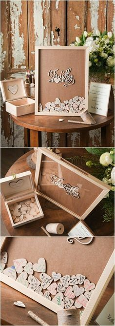 Top 12 Rustic Wedding Guest Books & Botanical Wedding Invitations Rustic Laser Cut Wood Wedding Guest Book- Finally Mr&Mrs / www. Wedding Ideias, Diy Wedding, Dream Wedding, Trendy Wedding, Wedding Disney, Wedding Vintage, Wedding Flowers, Wedding Ceremony, Origami Wedding