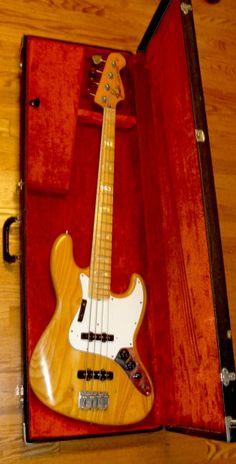 Fender Jazz Bass (Original) 1974 Natural | Reverb