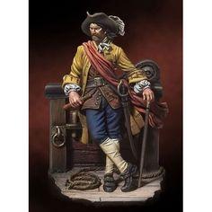 (54 mm.) Capitan William Kidd 1689