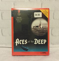 Aces of the Deep 1939-1945 U-Boat Dynamix MS-DOS CD ROM 1994 SEALED