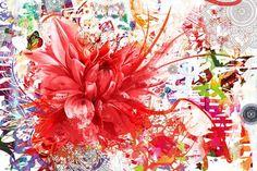 tableau décoratif Divine Folie rouge