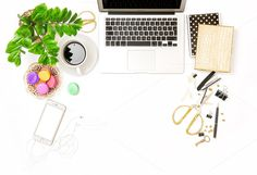 Office supplies and laptop by LiliGraphie on @creativemarket