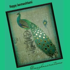 TITLE : Peacock ! MEDIUM : Water Colors on Gateway paper...Gold leafing on the feathers. #MeghnaCreations #creations #thematicart #peacock #abstract #symbolicicon #india #nationalbird #waterpaints #gatewaypaper #carvedsnake #pillar #happyjanmashtami #krishna #enchanting #flute #vibrations #make #thepeacock #dance #drops #goldleaf #feathers #forthe #lord #gift #mumbai #instaart