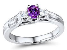 Amethyst Ring in Sterling Silver $39