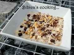 Porridge banane, noix, chocolat