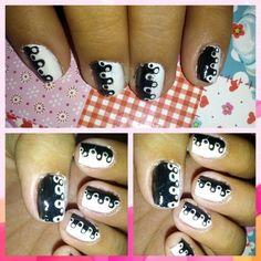 Black and white illusion nail art Black And White Illusions, Nail Art, Nails, Beauty, Finger Nails, Ongles, Nail Arts, Beauty Illustration, Nail Art Designs
