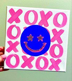 Dorm Canvas Art, Dorm Art, Small Canvas Art, Mini Canvas Art, Dorm Paintings, Simple Canvas Paintings, Cute Paintings, College Canvas Paintings, Pink Painting