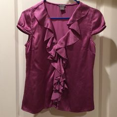 Top Beautiful silk too that looks great dressed up or down! Ann Taylor Tops Blouses