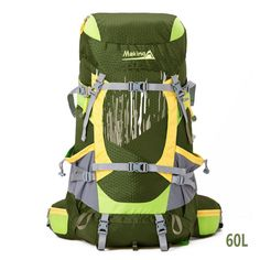 MAKINO 60L Adjustable Internal Frame Backpack Waterproof Trekking Bag of Rain Cover for Outdoor Hiking Travel Climbing Camping