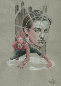 Spiderman by TrevorGrove on DeviantArt Spiderman Sam Raimi, Comics Spiderman, Comic Movies, Marvel Movies, Marvel Art, Marvel Avengers, Spider Man Trilogy, Best Superhero, Spider Verse
